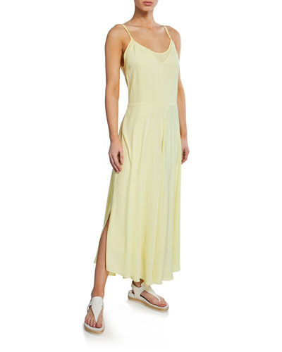 Double-Layer Spaghetti-Strap Slip Dress