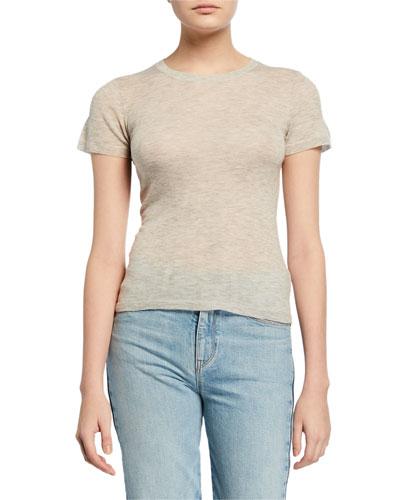 Crewneck Short-Sleeve Sweater Tee