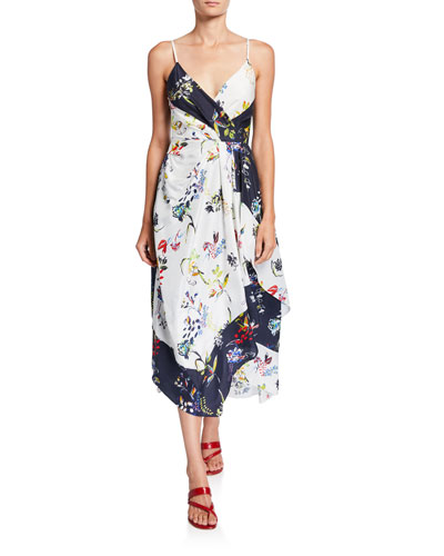 Catia Sleeveless Floral Scarf Dress