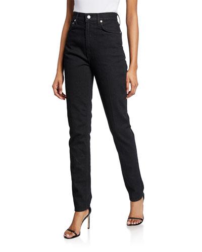 Femme Hi Spikes Straight-Leg Denim Jeans