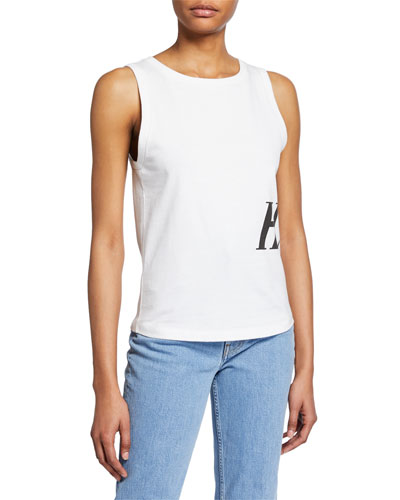 Femme Side-Graphic Muscle Tank