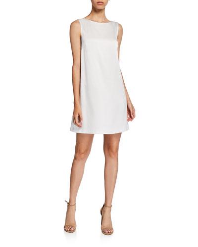 Lita Sleeveless Cowl-Back Mini Shift Dress