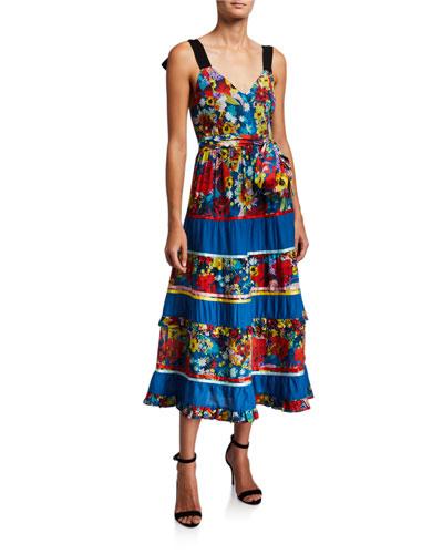 Gayla Tiered Midi Dress