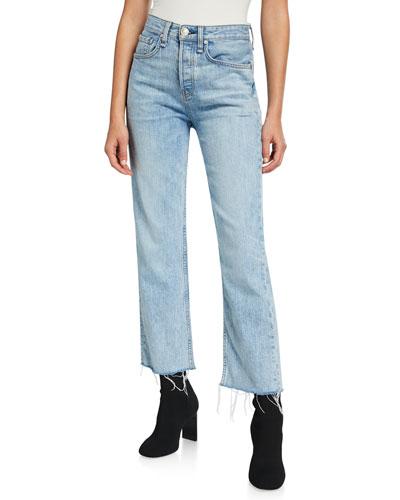 Maya High-Rise Straight-Leg Crop Jeans