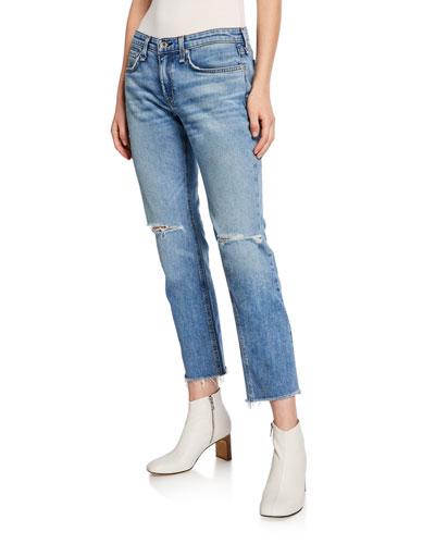 Dre Low-Rise Ankle Slim Boyfriend Jeans