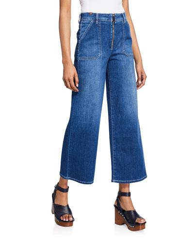 Malia Cropped Wide-Leg Jeans