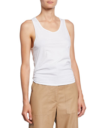 Calven Scoop-Neck Tie-Back Sleeveless Tee