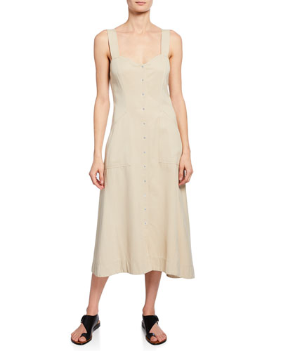 f775f0aad1c Sweetheart Neckline Cotton Dress | bergdorfgoodman.com