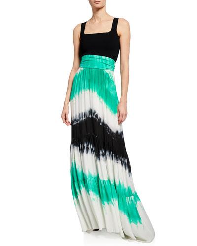 Hopkins Tie-Dye High-Waist Maxi Skirt