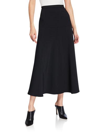 Albi Midi A-Line Ponte Skirt