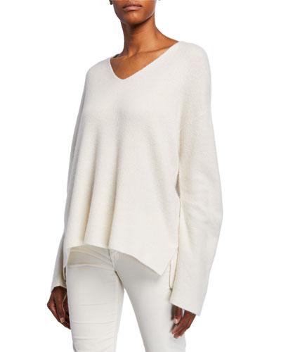 d95e0f6548 Tatyana V-Neck Cashmere Silk Sweater