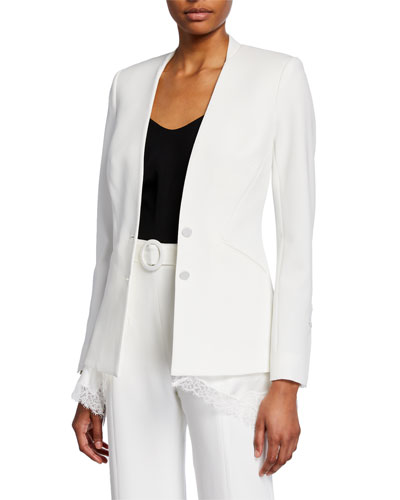 Crepe Combo Basque Jacket