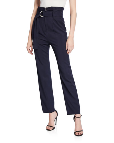 Luxe Twill Pleated Pants