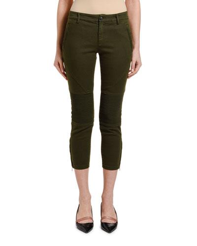 Army Crop Skinny Pants