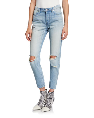 Charlotte Slim Distressed Jeans