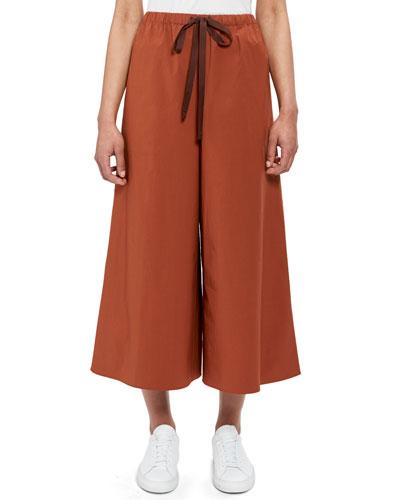 Fluid Wide-Leg Drawstring Pants