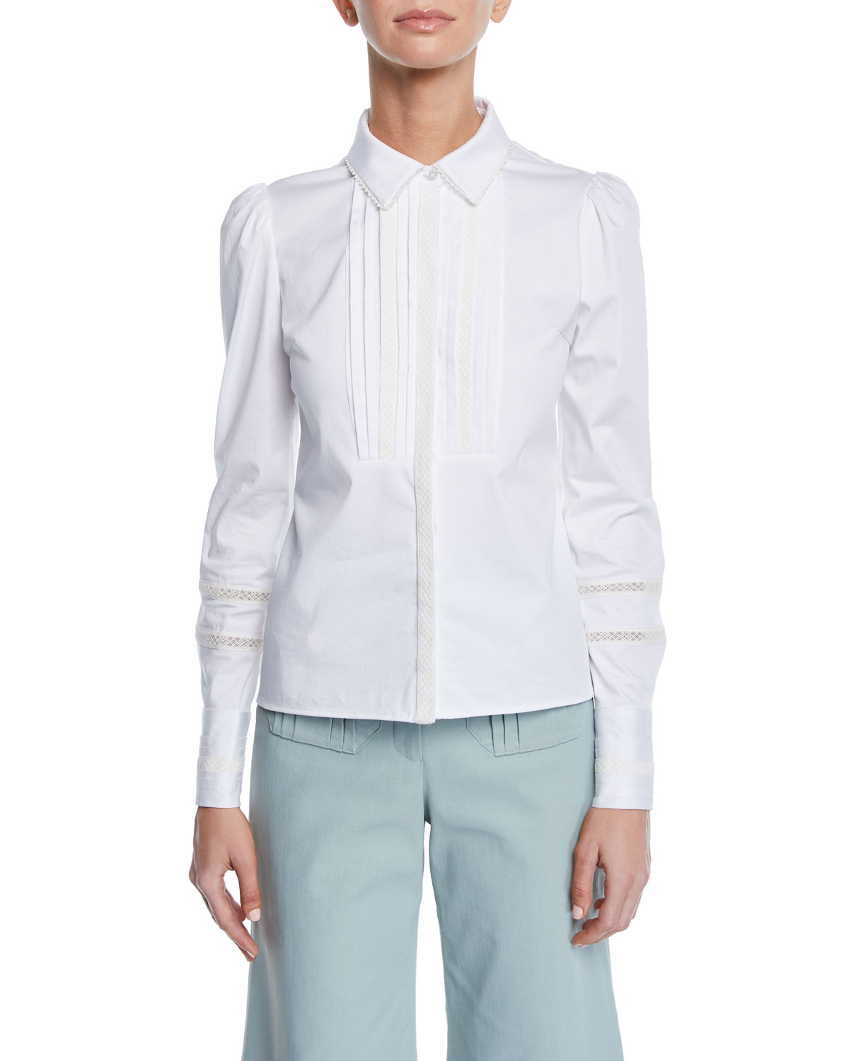 Alexis Tops HASKEL PLEATED-PANEL TOP