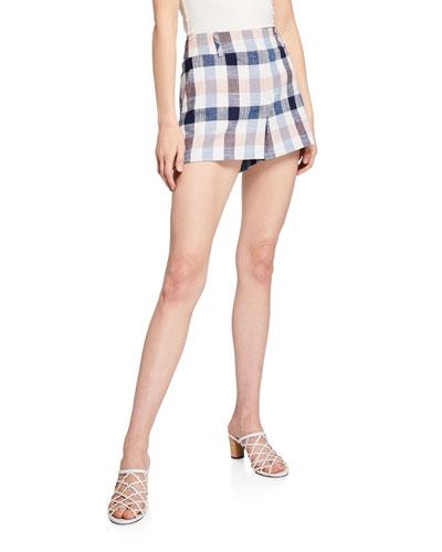 Ilene Check Shorts