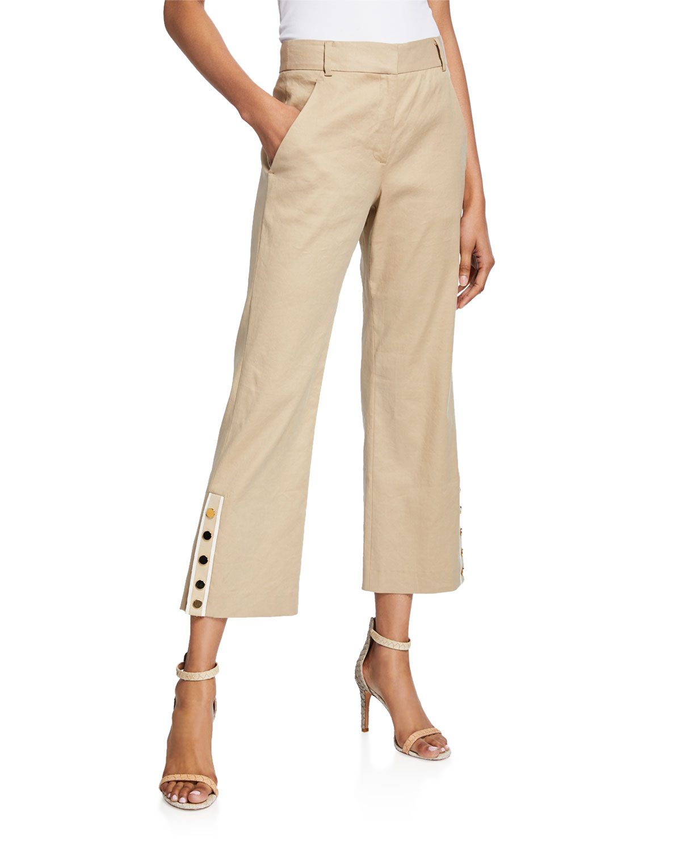 Veronica Beard Pants MARTIN CROPPED FLARE PANTS
