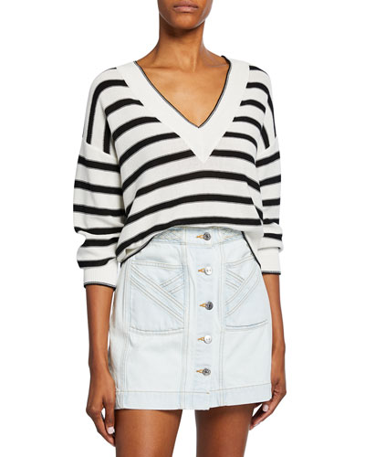 Jayden Striped V-Neck Sweater