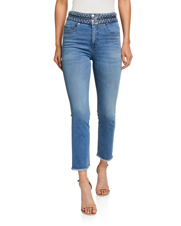 Veronica Beard Jeans CARLY BRAIDED KICK FLARE JEANS