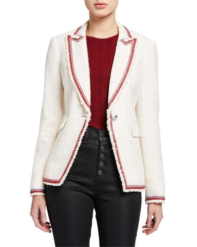 Cutaway Contrast-Trim Jacket