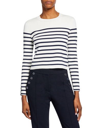 Park Striped Long-Sleeve Sweater