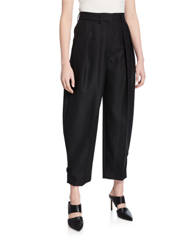 City Wool Pleated Pants