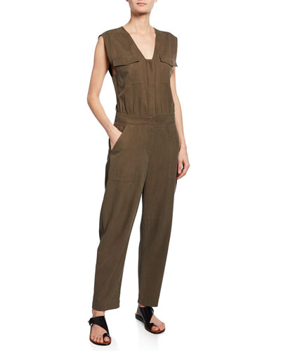 Damien Sleeveless Ankle Jumpsuit
