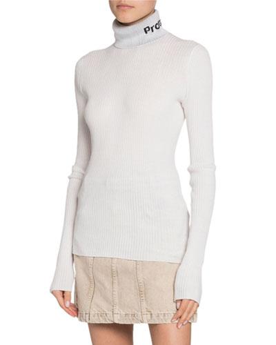 50ffccfc94fdb Long-Sleeve Knit Lightweight Turtleneck Top
