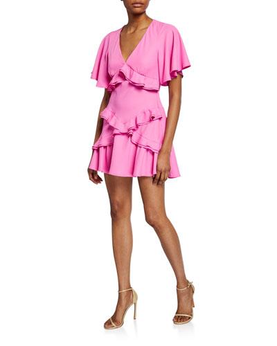 The Jones Short-Sleeve Ruffle Dress