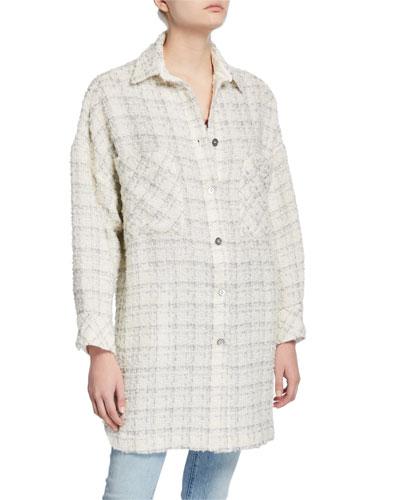Mainte Wool-Mohair Long Jacket