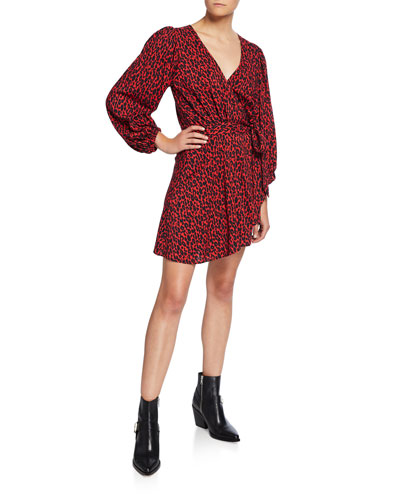 Boina Leopard-Print Wrap Dress