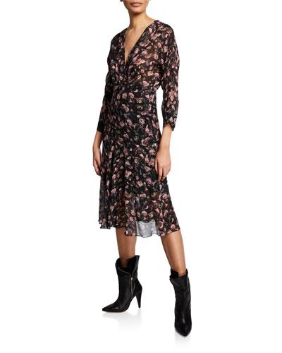 Temper Floral-Print Midi Dress