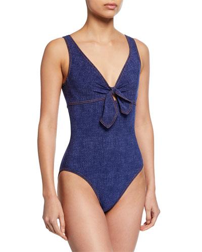 Louise V-Neck Underwire One-Piece Swimsuit