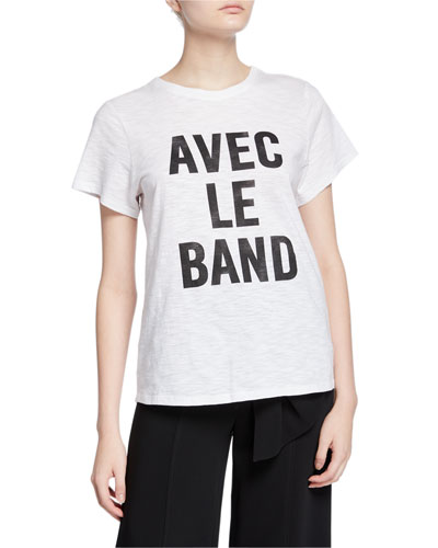 With The Band Short-Sleeve Slogan Tee