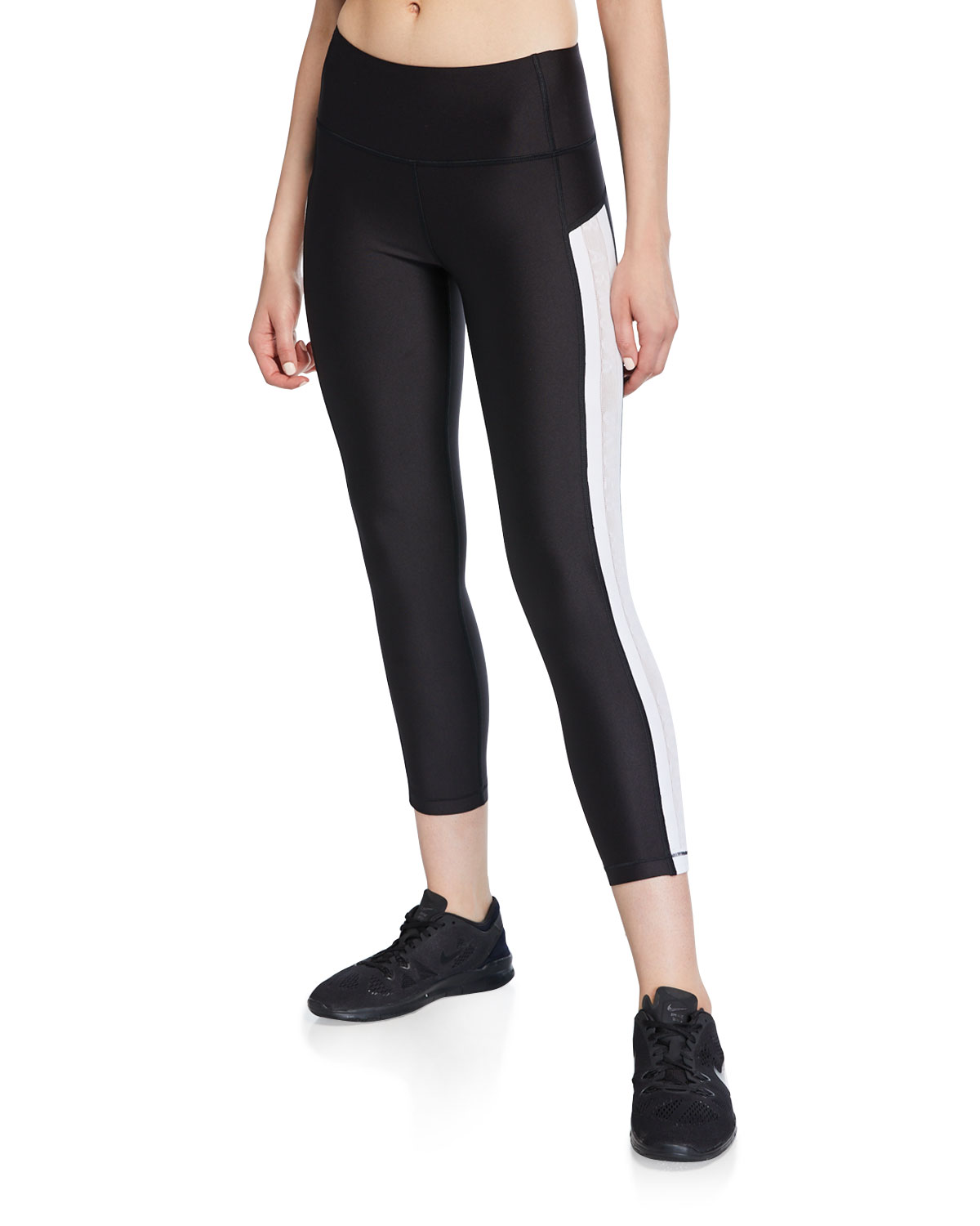 6cbd730b49d9d Under Armour Heatgear Armour Ankle Crop Branded Leggings In Black/White