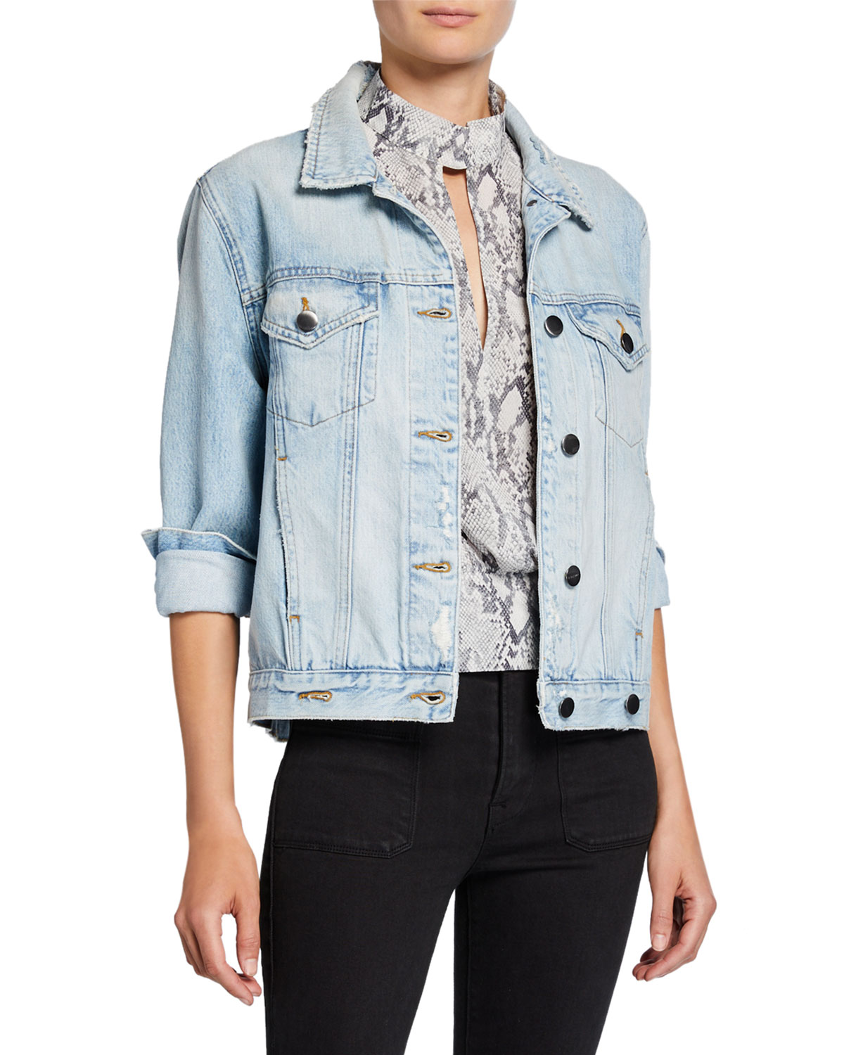 Frame Jackets OVERLAP DENIM TRUCKER JACKET