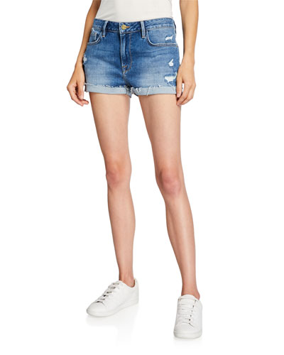 Le Grand Garcon Distressed Shorts