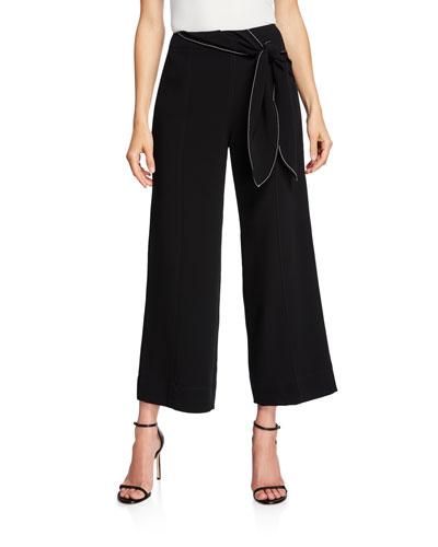 Jenna Tie-Waist Wide-Leg Pants