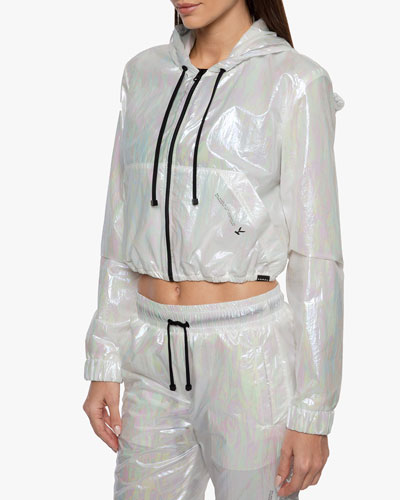 Portal Spheric Cropped Hooded Jacket