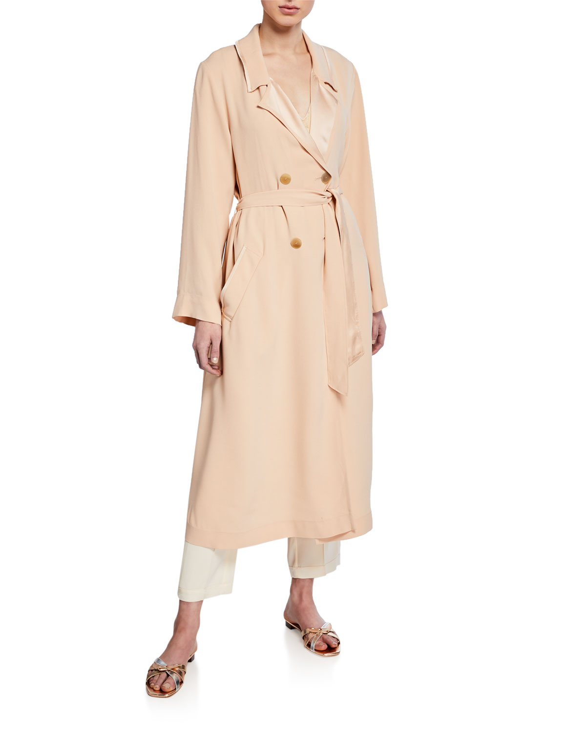 Forte Forte Coats CREPE-BACK SATIN TRENCH COAT