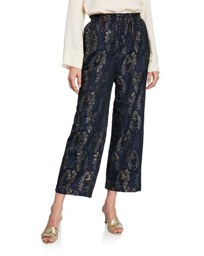 Gipsy Gold Jacquard Wide-Leg Pants