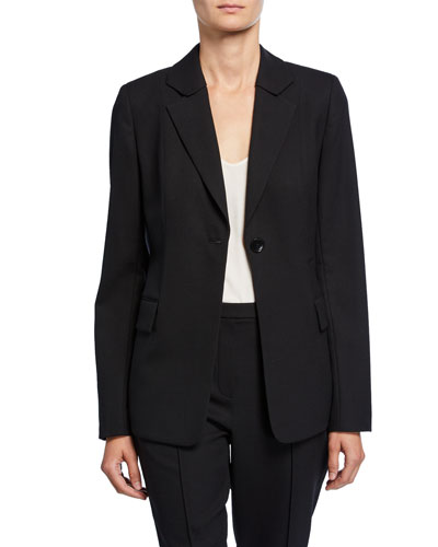 Julie One-Button Wool Jacket