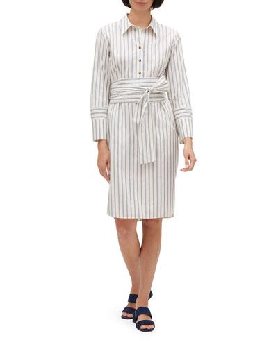 Fabiola Striped Shirtdress