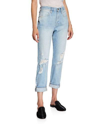 Le Pegged High-Rise Straight-Leg Jeans