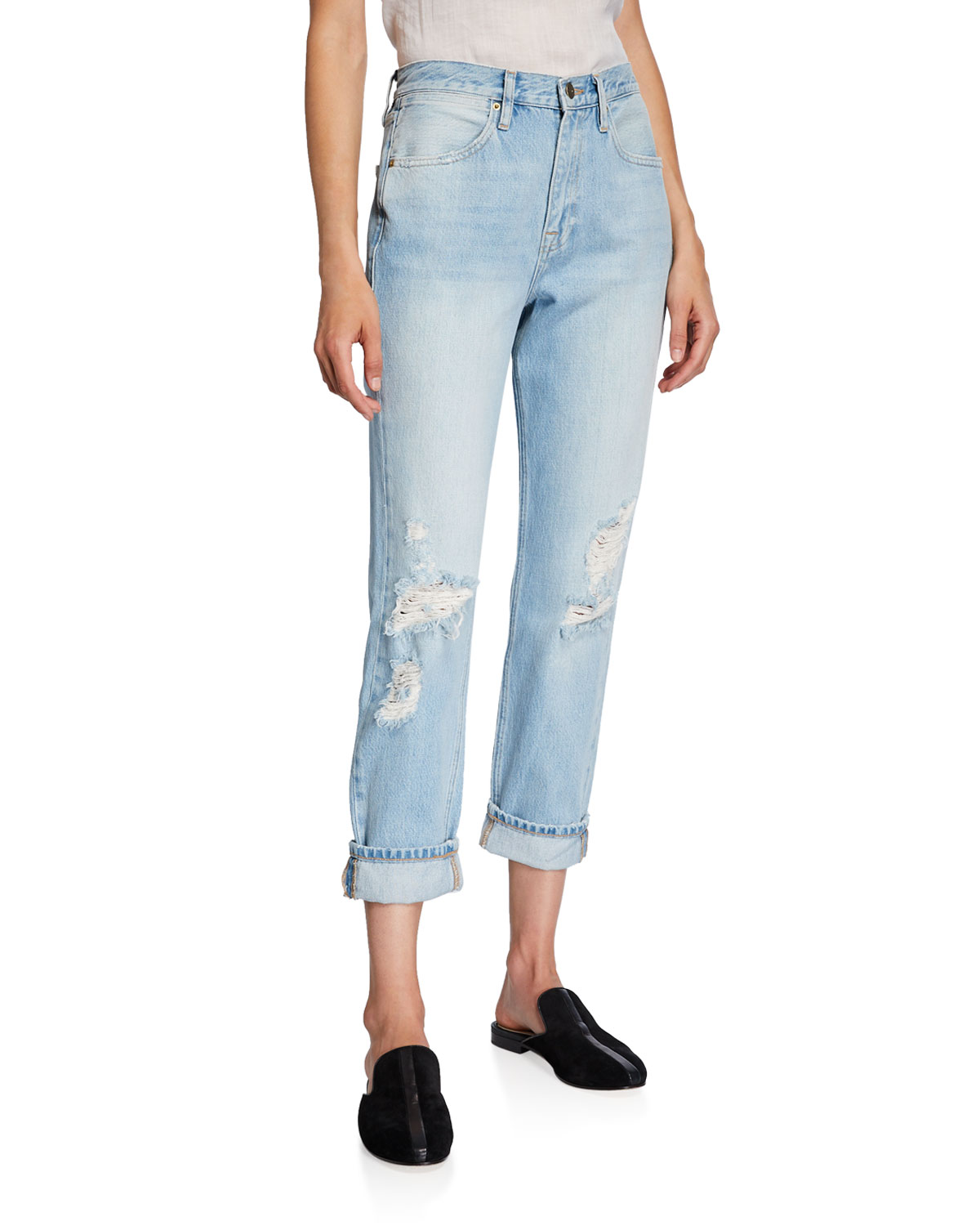 Frame Jeans LE PEGGED HIGH-RISE STRAIGHT-LEG JEANS