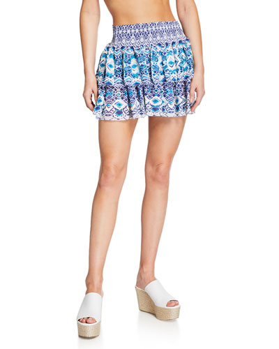 Cairo Printed Short Skirt