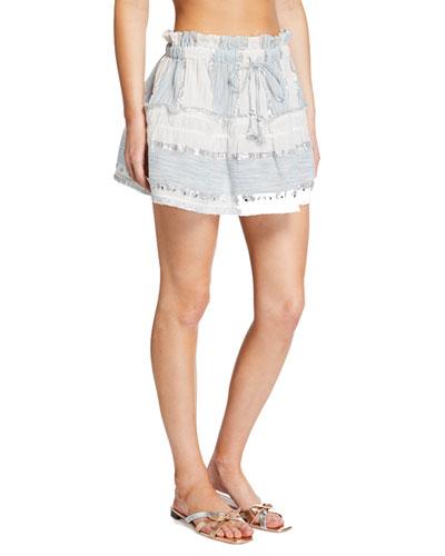 Alba Metallic Short Skirt
