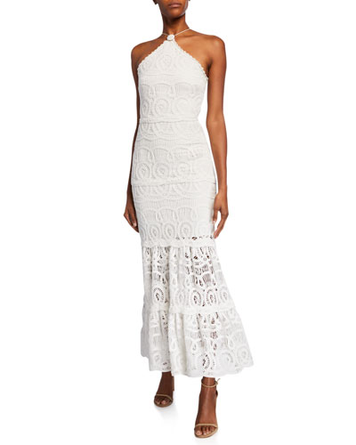 Yvonna Crocheted Halter Dress